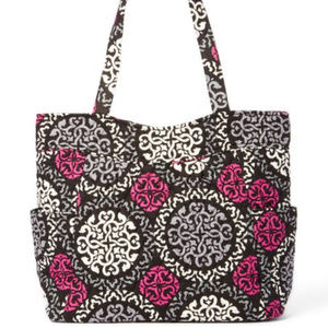 NWT Vera Bradley Pleated Tote Canterberry Magenta